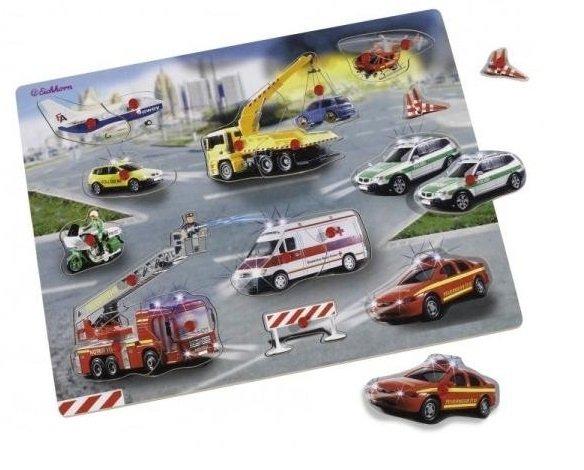 Puzzle drewniane Samochody Ratunkowe Eichhorn 0003699