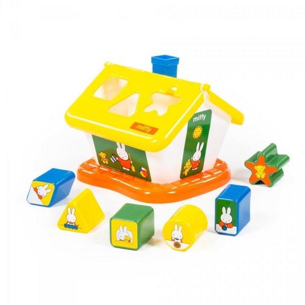 Domek sorter z bohaterami bajku Miffy