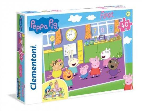 Puzzle Podłogowe Świnka Peppa 40 el. Clementoni 25458
