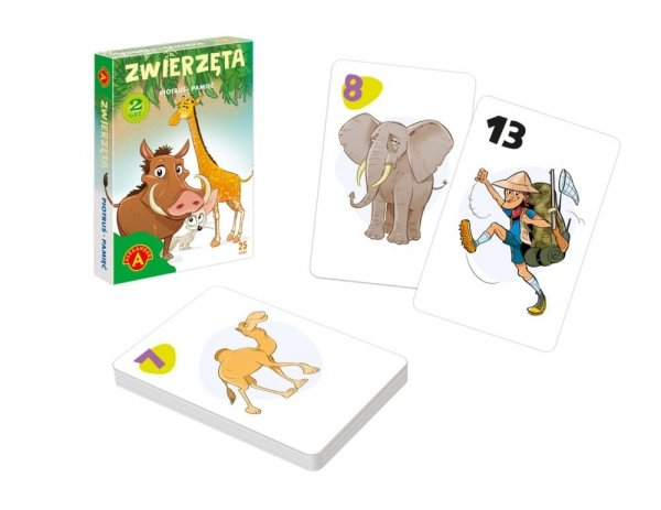 Karty 2w1 Piotruś Pamięć Zwierzęta Alexander 2614