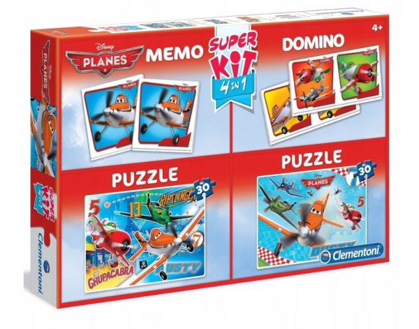 Zestaw Supekit Samoloty 2xPuzzle/Domino/Memo Clementoni 08204