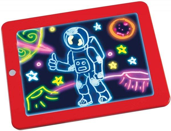 Magic Pad – Zaubertafel mit 6 Neonfarben und 8 Leuchteffekten – Kreative Beschäftigung für Kinder, auch unterwegs – Maltafel mit