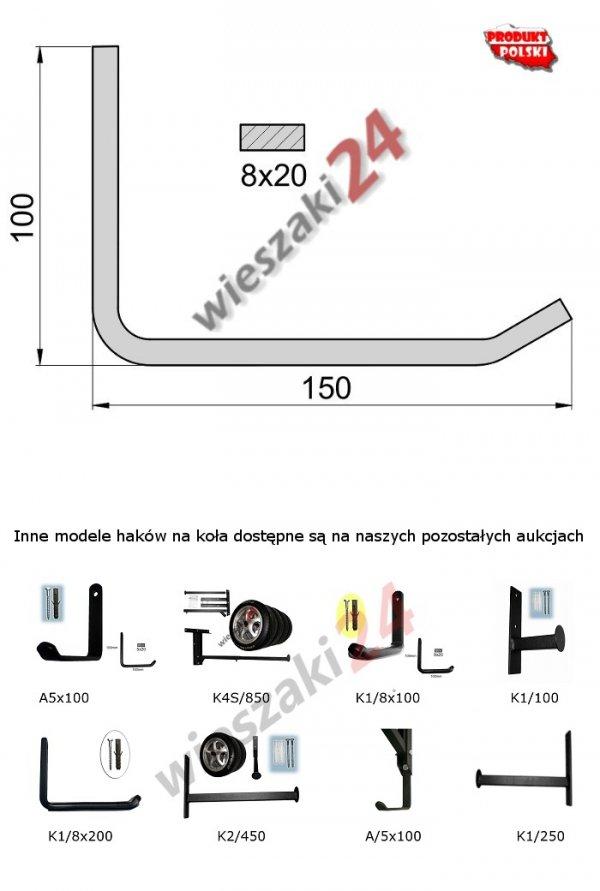 Wieszak na opony K1/8x150