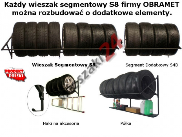 Wieszak na opony S8