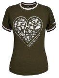 Koszulka bawełniana ABBY HEART damska  - Fair Play