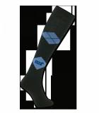 Podkolanówki jeździeckie ELT czarny/niebieski jeans - WALDHAUSEN