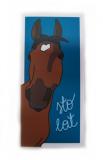Kartka urodzinowa z gniadym koniem