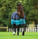 Derka padokowa 200g 600D MIO Turnout Medium - HORSEWARE - Turquoise/Black & Black