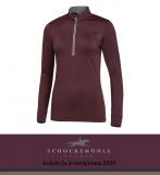 Bluzka funkcyjna PAGE AW20 - Schockemohle - burgundy