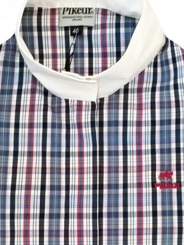 Koszula konkursowa na krótki rękaw D-Turn check - PIKEUR
