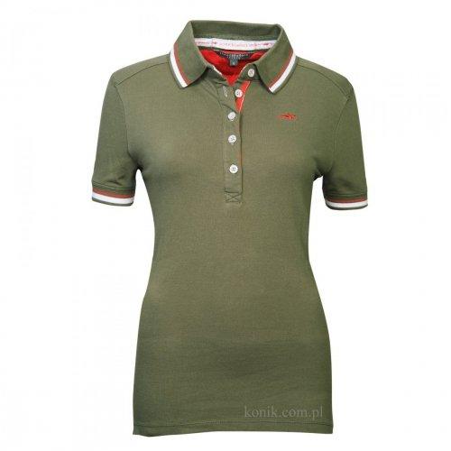 Koszulka damska polo MERYL olive - SCHOCKEMOHLE