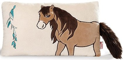 Pluszowa poduszka z ogonkiem konik brązowy - NICI