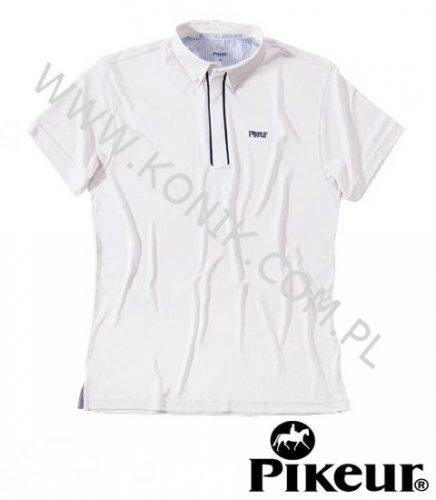 Koszula konkursowa elastyczna PIKEUR męska - biała