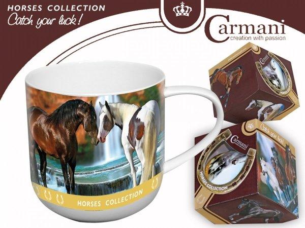 Kubek dwa konie przy wodospadzie - Carmani
