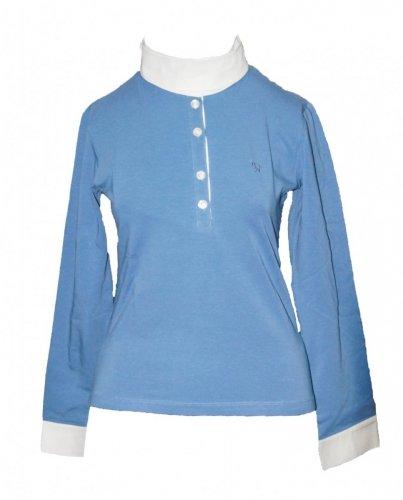 Koszula konkursowa młodzieżowa - Isabell Werth - niebieski/biały