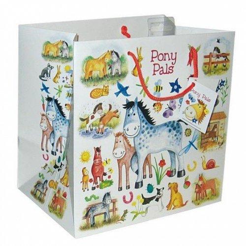Torebka na prezenty Pony pals - Gray's - duża