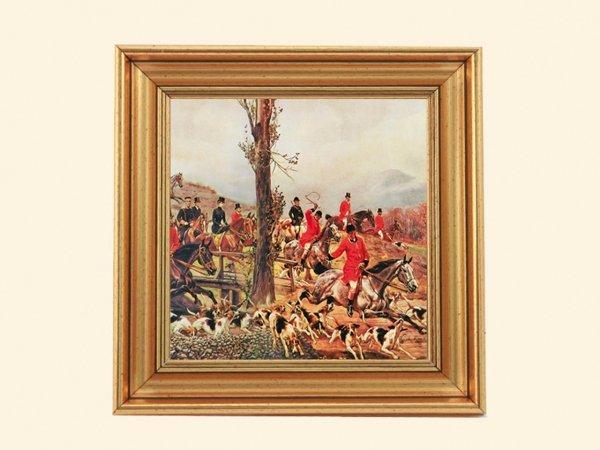Obrazek w złotej ramce Kossak wyjazd na polowanie - CARMANI