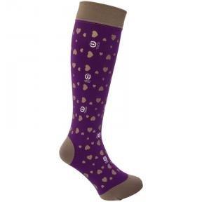 Podkolanówki jeździeckie My Sweatheart purple - IMPERIAL RIDING