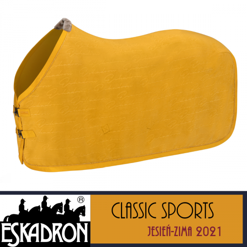 Derka polarowa FLEECE STAMPED - Classic Sports A/W 21 - Eskadron - vintage gold