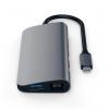 Satechi USB-C Multimedia HUB - Ethernet / USB 3.0 / USB-C PD / HDMI /mini DisplayPort / SD / microSD / Space Gray (gwiezdna szarość)
