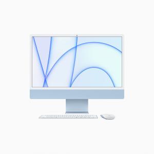 Apple iMac 24 4,5K Retina M1 8-core CPU + 8-core GPU / 16GB / 512GB SSD / Gigabit Ethernet / Niebieski (Blue) - 2021
