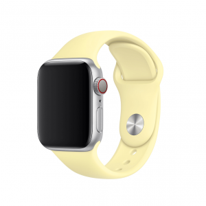 Apple pasek z klamrą sportową w kolorze łagodnym żółtym do Apple Watch 38/40 mm - Rozmiar S/M i M/L