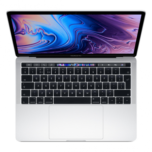 MacBook Pro 13 Retina Touch Bar i7 1,7GHz / 8GB / 256GB SSD / Iris Plus Graphics 645 / macOS / Silver (2019)
