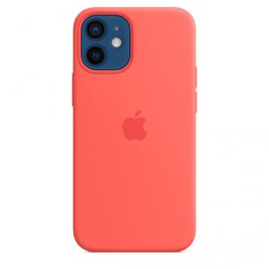 Apple Silikonowe etui z MagSafe do iPhone'a 12 mini - różowy cytrus