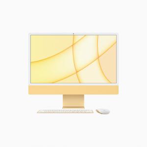 Apple iMac 24 4,5K Retina M1 8-core CPU + 8-core GPU / 16GB / 256GB SSD / Gigabit Ethernet / Żółty (Yellow) - 2021