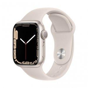 Apple Watch Series 7 41mm GPS Koperta z aluminium w kolorze księżycowej poświaty z paskiem sportowym w kolorze księżycowej poświaty