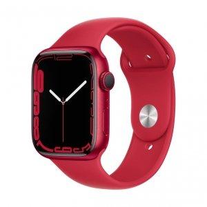 Apple Watch Series 7 45mm GPS Koperta z aluminium w kolorze (PRODUCT)RED z paskiem sportowym w kolorze (PRODUCT)RED