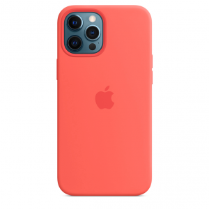 Apple Silikonowe etui z MagSafe do iPhone'a 12 Pro Max – różowy cytrus