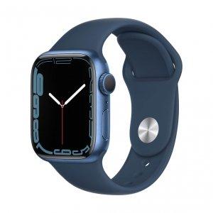 Apple Watch Series 7 41mm GPS Koperta z aluminium w kolorze niebieskim z paskiem sportowym w kolorze błękitnej toni