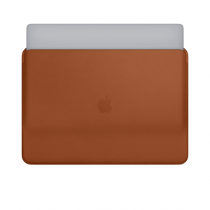 Apple Leather Sleeve - Skórzany futerał do MacBook Pro 15 - Saddle Brown (naturalny brąz)