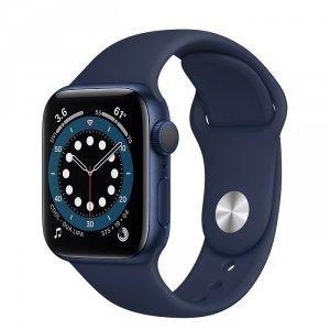 Apple Watch Series 6 40mm GPS Aluminium w kolorze niebieskim z paskiem sportowym w kolorze głębokiego granatu - outlet