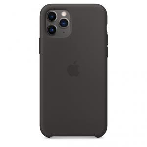 Apple Silikonowe etui do iPhone'a 11 Pro – czarne