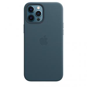 Apple Skórzane etui z MagSafe do iPhone'a 12 Pro Max - bałtycki błękit