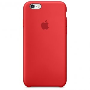 Apple Silicon Case Etui do iPhone 6/6s Red (czerwony)