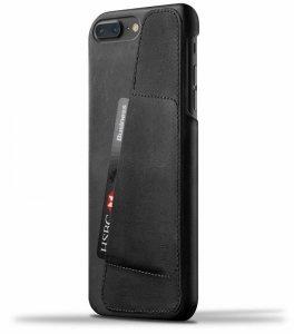 Mujjo Full Leather - etui skórzane do iPhone 8/7 Plus  (czarne)