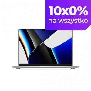 Apple MacBook Pro 14 M1 Pro 10-core CPU + 16-core GPU / 32GB RAM / 4TB SSD / Srebrny (Silver)