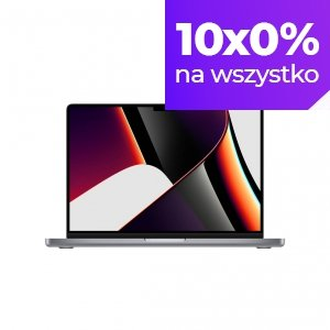 Apple MacBook Pro 14 M1 Pro 10-core CPU + 16-core GPU / 32GB RAM / 512GB SSD / Klawiatura US / Gwiezdna szarość (Space Gray)