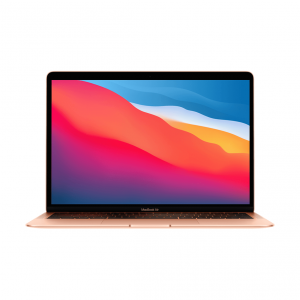 MacBook Air z Procesorem Apple M1 - 8-core CPU + 8-core GPU / 8GB RAM / 512GB SSD / 2 x Thunderbolt / Gold (złoty) 2020 - nowy model
