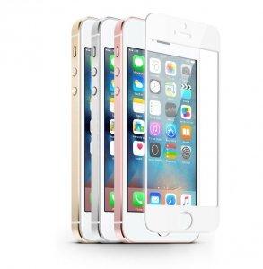 KMP Szkło ochronne iPhone SE/5S/5 Biały