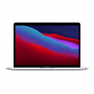 MacBook Pro 13 z Procesorem Apple M1 - 8-core CPU + 8-core GPU / 8GB RAM / 256GB SSD / 2 x Thunderbolt / Silver (srebrny) 2020 - nowy model