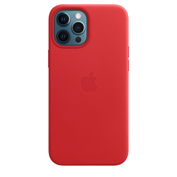 Apple Skórzane etui z MagSafe do iPhone'a 12   12 Pro – (PRODUCT)RED