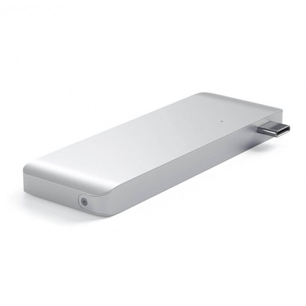 Satechi USB-C Pass Through HUB - 2xUSB 3.0 / USB-C (PD) / SD / microSD / Silver (srebrny)