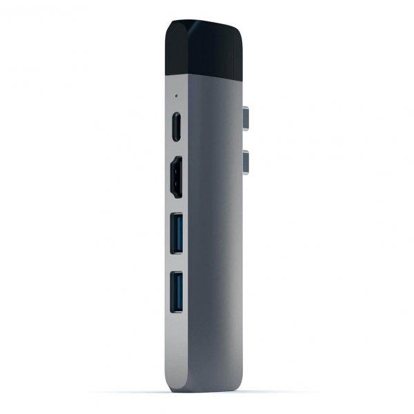 Satechi USB-C PRO HUB Ethernet - 2xUSB 3.0 / Ethernet / HDMI / USB-C / microSD / Space Gray (gwiezdna szarość)