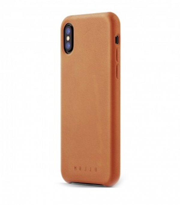 Mujjo Full Leather - etui skórzane do iPhone X  (brązowe)