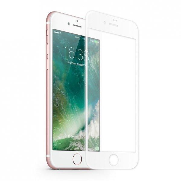 KMP Szkło ochronne na iPhone 7 Plus (biały)