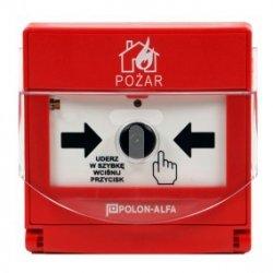 Ręczny ostrzegacz pożarowy IP30 102x98x46mm adresowalny ROP-4001M